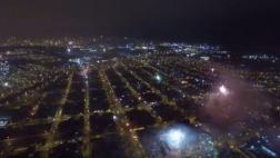 Dron registró increíbles imágenes de Lima en Año Nuevo [VIDEO]