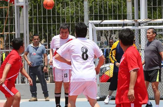 Ollanta Humala: las postales del partido que jugó con ministros