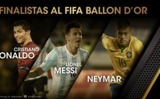 Balón de Oro se decide este lunes: ¿Messi, Neymar o Cristiano?