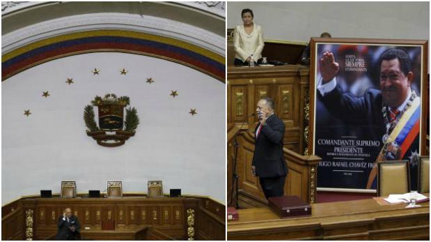 Venezuela: Retiran el cuadro de Chávez de la Asamblea Nacional