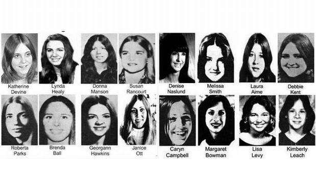 Algunas de las víctimas de Ted Bundy.