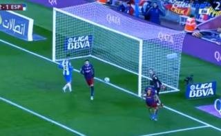 Suárez gritó golazo de Messi en la cara del arquero de Espanyol