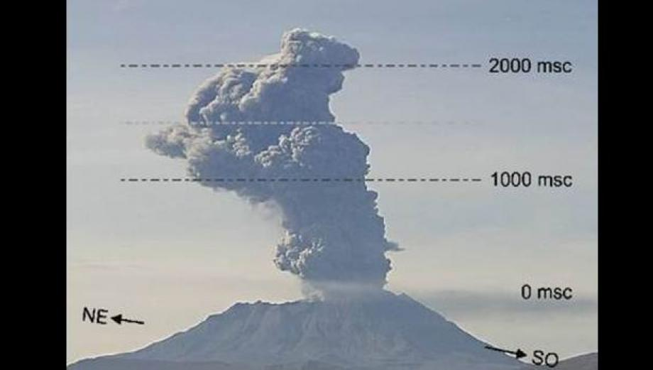 Las explosiones más fuertes del volcán Ubinas en 2015 [FOTOS]