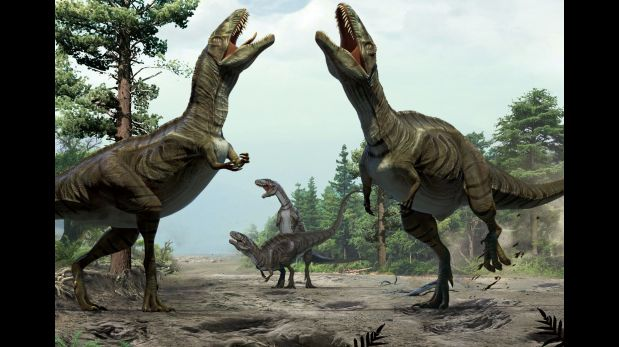 Según el estudio, los dinosaurios se volvían locos durante la ceremonia de apareamiento. (Foto: AFP / NATURE/XING LIDA/YUJIANG HAN)