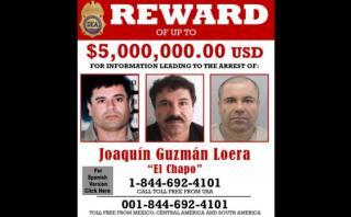 'El Chapo' Guzmán: recompensa por su captura suma US$8,8 mlls.