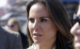 Kate del Castillo no quiso hablar sobre entrevista a 'El Chapo'