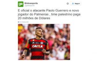 Paolo Guerrero: ¿Es cierto que atacante fichó por el Palmeiras?