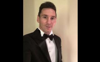Lionel Messi y su elegante traje 'Armani' en el Balón de Oro