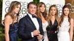 Sylvester Stallone se lució con sus hijas en los Globos de Oro - Noticias de paul spies