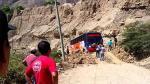 Áncash: culminó limpieza en carretera bloqueada por huaicos - Noticias de huallanca