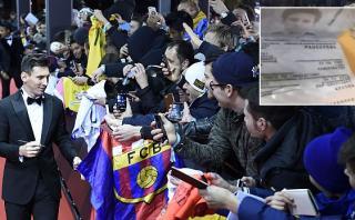 Lionel Messi: broma con pasaporte pudo costarle caro a policía