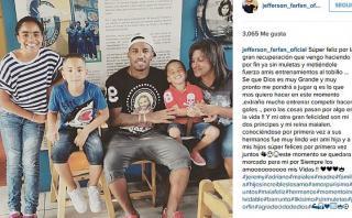 Jefferson Farfán mejora de lesión y deja mensaje en Instagram