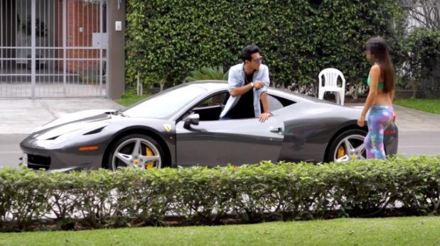Piba lo ignora al peruano pero al ver su Ferrari esto pasó