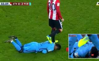 Neymar: Aduriz lo criticó por exagerar un supuesto pisotón