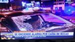 Costa Verde: piedra cayó sobre taxi cerca de la bajada de Sucre - Noticias de magdalena chu