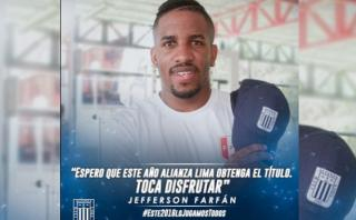 """Jefferson Farfán: """"Espero que Alianza logre el título, ya toca"""""""