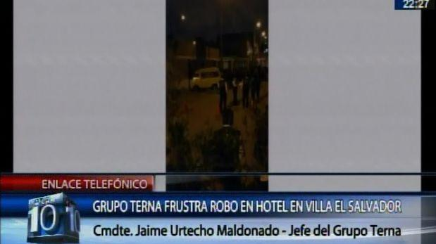Villa El Salvador: grupo Terna frustó asalto en hotel