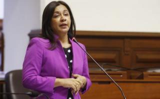 Marisol Espinoza quedó encargada del despacho presidencial