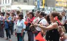 Trabajadores de Inabif protestan y exigen más presupuesto
