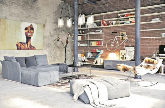 Columnas y vigas de metal para un efecto industrial en casa decoraci n casa y m s el - Pilares de hierro ...