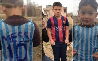 Messi: dos niños reclaman ser el protagonista de esta foto