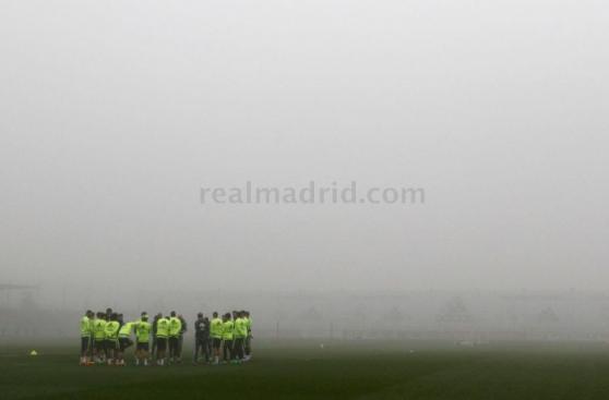 Real Madrid entrenó con neblina sin Cristiano Ronaldo [FOTOS]