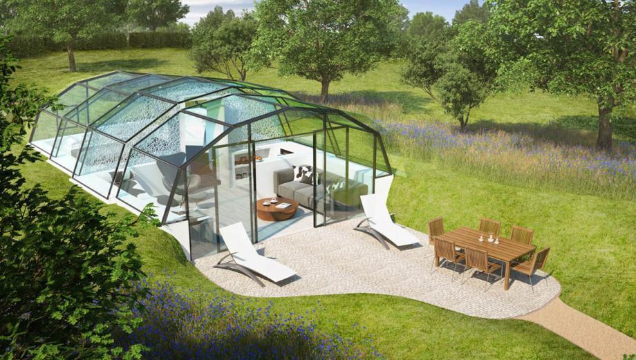 ¿Vivirías rodeado de naturaleza en una casa transparente?