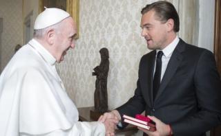 Leonardo DiCaprio fue recibido por el papa Francisco