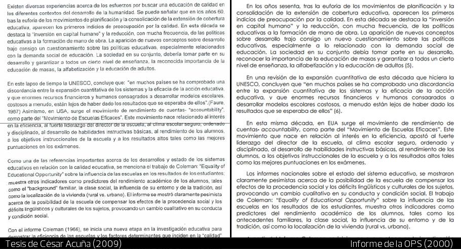 Los plagios de César Acuña: encuentra las diferencias