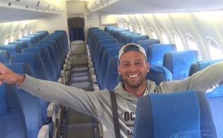 Abordó el avión y descubrió que era el único pasajero