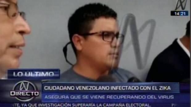 """Venezolano con virus del zika: """"No vine a traer la enfermedad"""""""