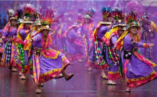Los impresionantes colores del carnaval de Oruro en Bolivia
