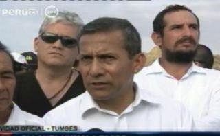 """Humala amenazó con """"agarrar a correazos"""" a malas autoridades"""