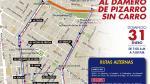 Centro histórico: hoy restringen el tránsito de autos - Noticias de plaza lima sur