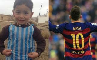 Messi conocerá al niño que lo emuló con una bolsa plástico
