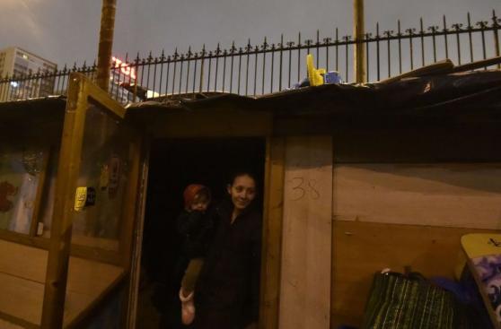 La barriada gitana que vivía a las vías de un tren en París