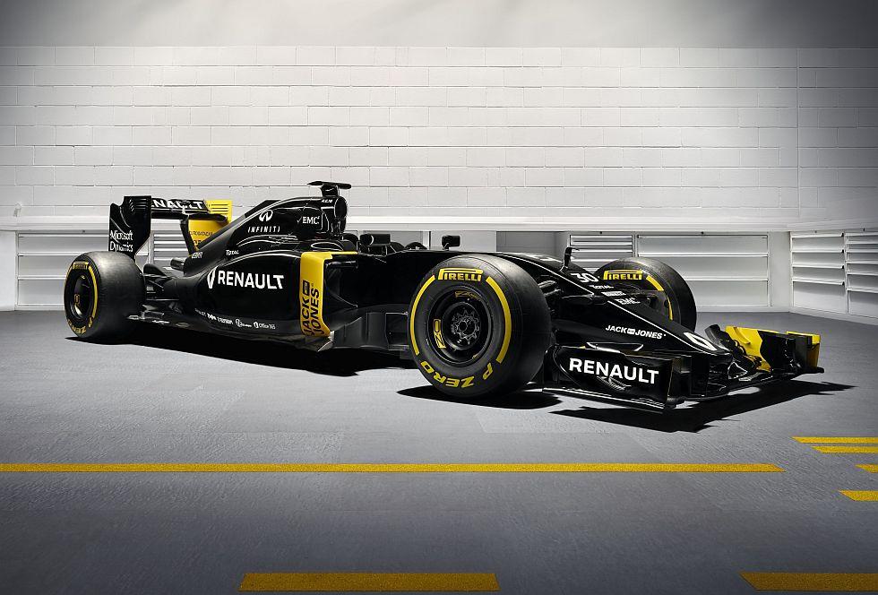 El RS16 será el monoplaza con el que Renault participará en la temporada 2016 de la Fórmula 1. (foto: difusión)
