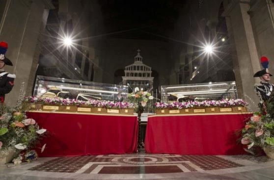 El peregrinaje de los restos del padre Pío hacia el Vaticano
