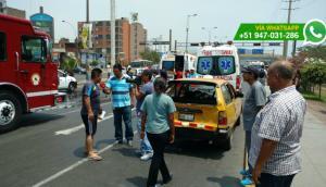Choque múltiple en el Circunvalación genera tráfico (FOTOS)