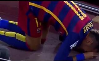 Neymar: el resbalón que pudo costarle caro al brasileño (VIDEO)
