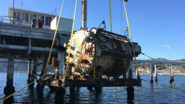 El Leona Philpot fue fue retirado del fondo del mar por primera vez tras cuatro meses.(Foto: Microsoft)