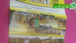 Nano Guerra se promociona con obras de la Municipalidad de Lima
