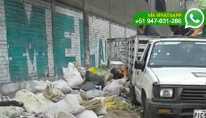 San Luis: trabajadores dejan desperdicios en límite distrital