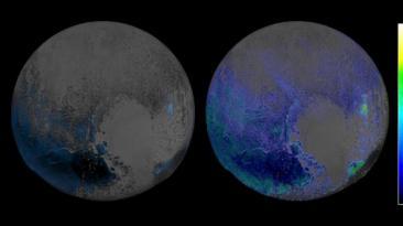 La NASA halla extensas reservas de agua congelada en Plutón
