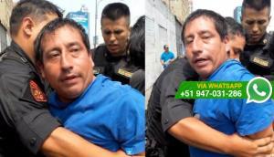 Cercado: ladrón amenazó a policía luego de su detención (VIDEO)