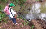 San Martín: verifican vertimiento de aguas residuales en laguna