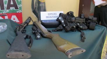 Áncash: incautan armas y municiones a colombianos [FOTOS]