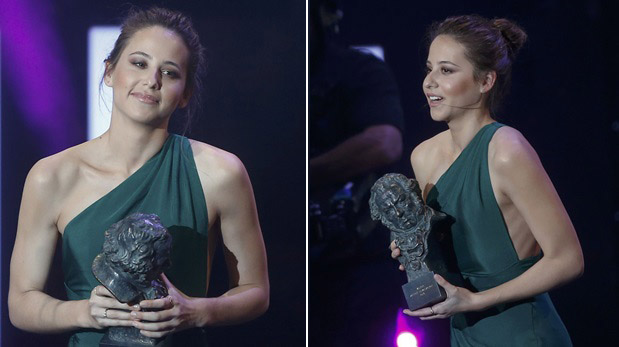 Irene Escolar en los premios Goya 2016. (Fotos: Reuters)