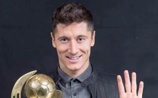 Robert Lewandowski obtuvo premio a mejor futbolista polaco