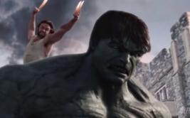 La tenaz pelea de Hulk contra Wolverine, Spider Man y Iron Man